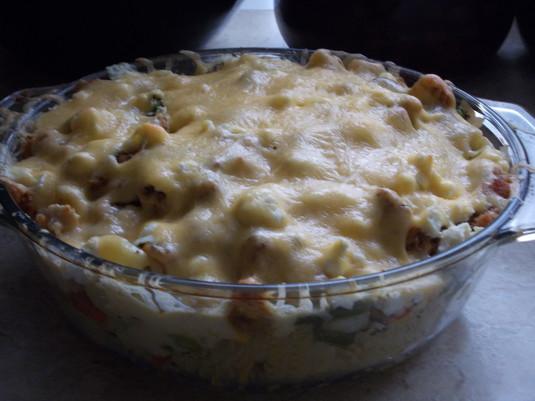 Zapiekanka z warzywami na patelnię i serem feta