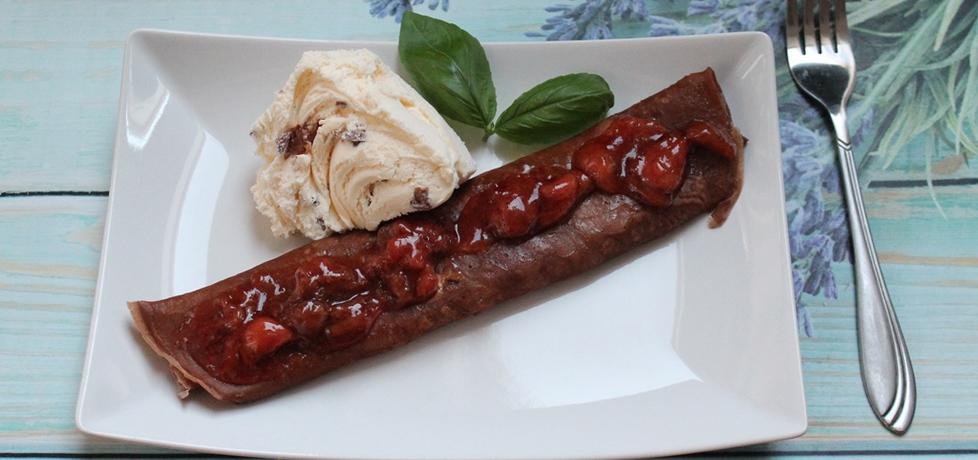 Naleśniki czekoladowe z lodami (autor: madzai)