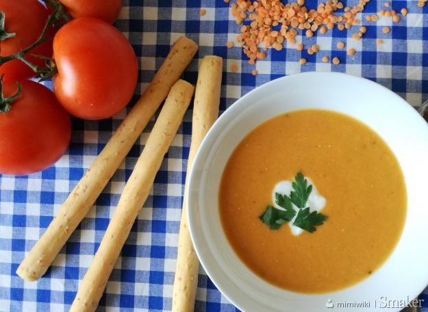 Krem z soczewicy i pomidorów