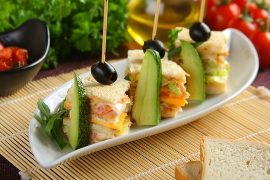 Mini kanapka klubowa