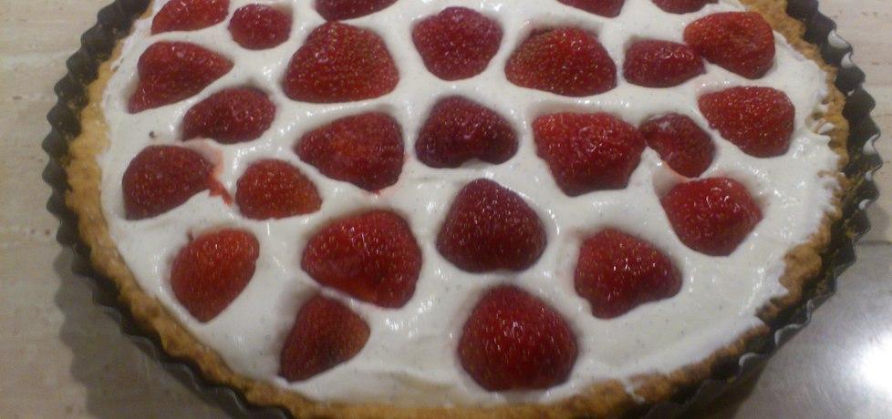 Tarta z truskawkami i serkiem mascarpone (autor: olaiamelka ...