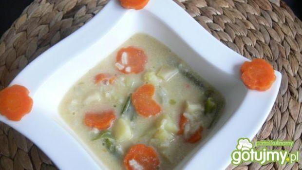Przepis  wegańska zupa jarzynowa z ryżem przepis
