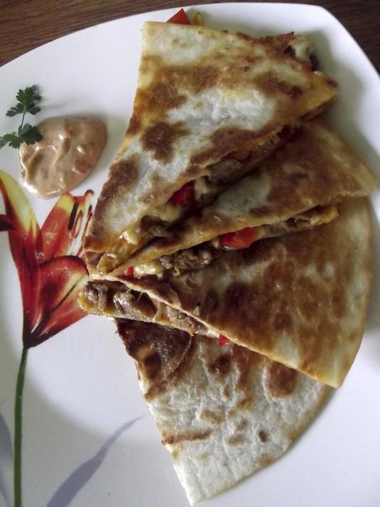 Quesadilla gyrosowa