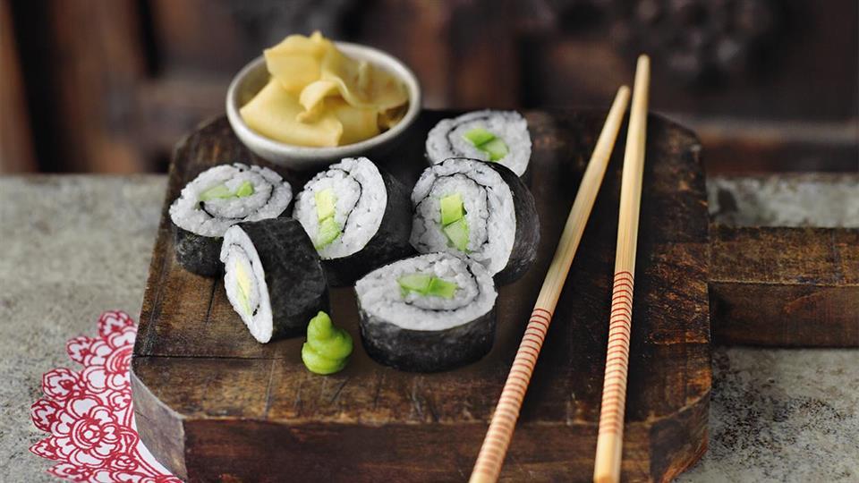 Przepis na wegetariańskie maki sushi