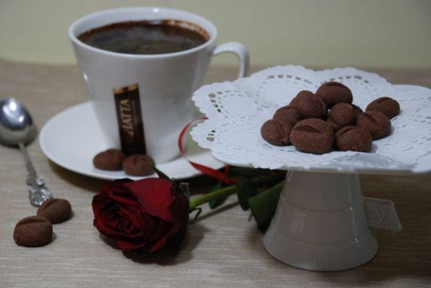Przepis  ciasteczka ziarenka kawy przepis