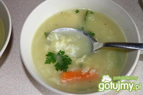 Przepis  zupa cukiniowa z ryżem przepis