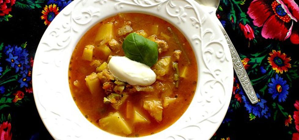 Zupa gulaszowa z cukinią i papryką (autor: mysiunia ...
