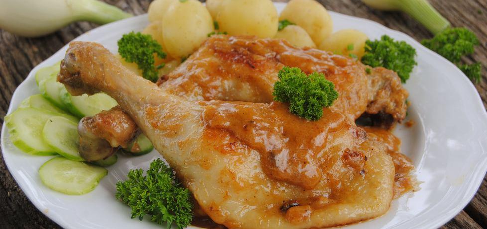 Udka z kurczaka w sosie musztardowo