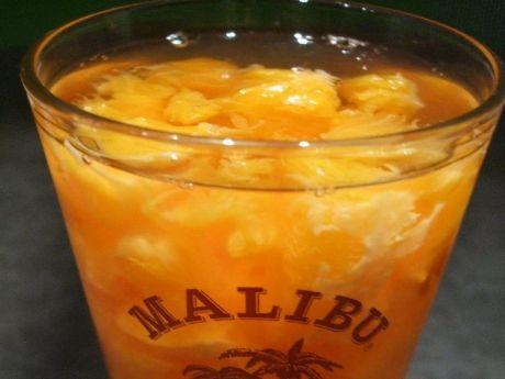 Przepis  pomarańcze z malibu przepis