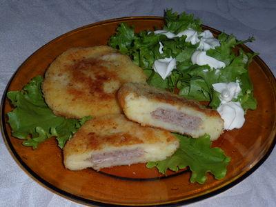 Placuszki ziemniaczane z mięsem