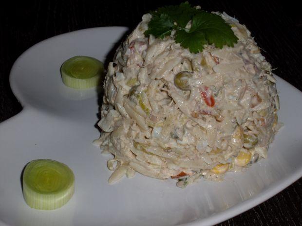 Przepis  sałatka makaronowa z tuńczykiem przepis