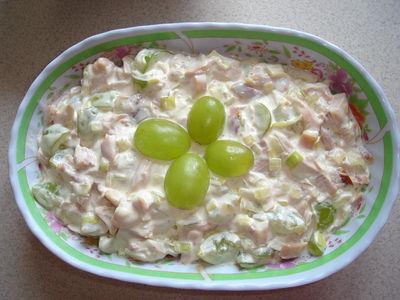Sałatka z winogronami