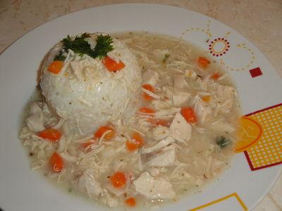 Potrawka drobiowa z ryżem