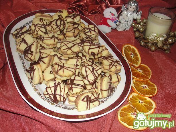 Przepis  ciasteczka z kremem marcepanowym przepis