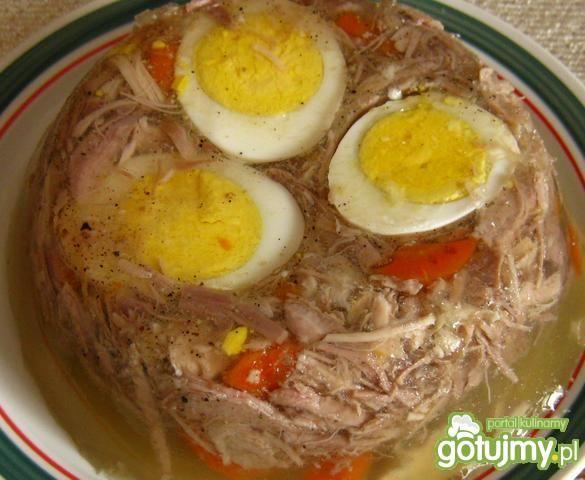 Przepis  galaretka z kurczaka z paprykową nutką przepis