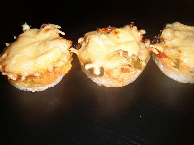 Muffinki gyrosowe zapiekane
