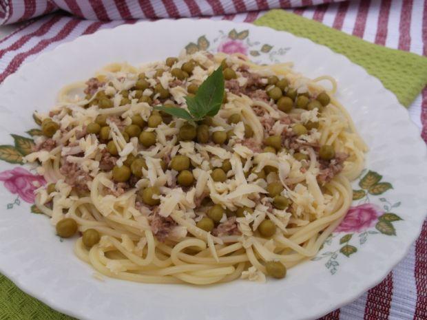 Przepis  spaghetti z tuńczykiem przepis