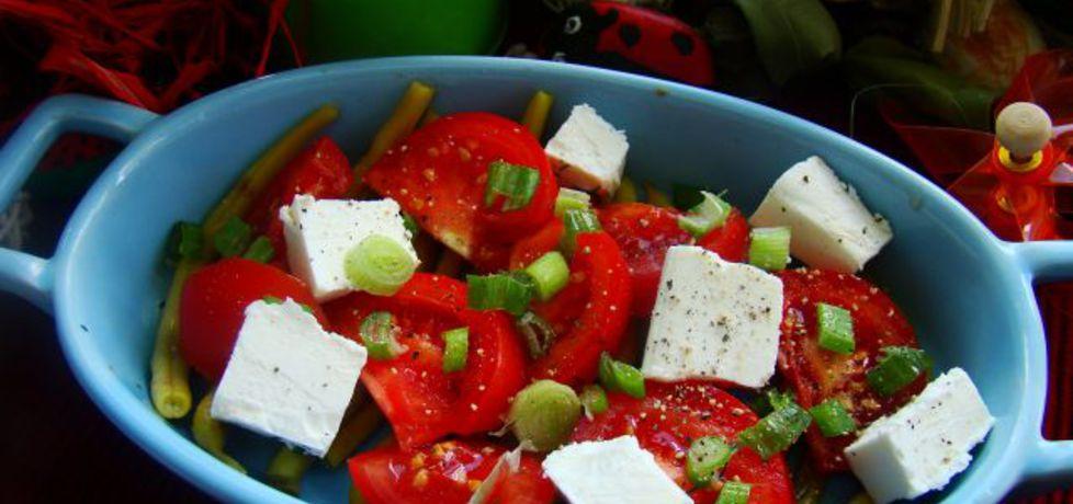 Sałatka pomidorowo fasolowa z fetą (autor: iwa643 ...