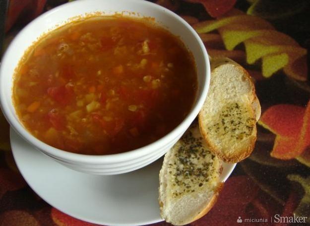 Aromatyczna zupa z czerwonej soczewicy