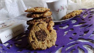 Ciasteczka amarantusowe z kakaowym oczkiem wersja fit ...