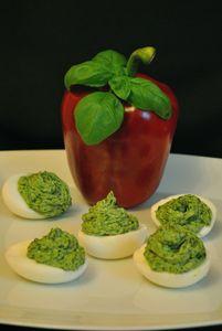Zielono mi! czyli jajka faszerowane szpinakiem