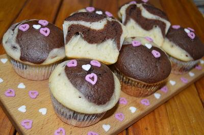 Muffinki marmurkowe