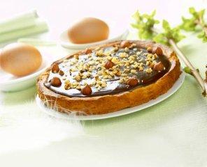Mazurek z gorzką czekoladą  prosty przepis i składniki