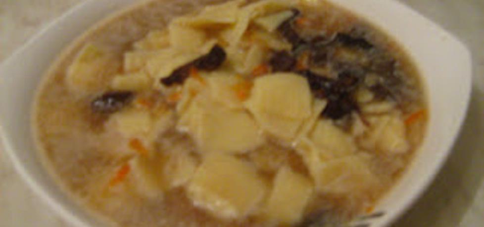 Zupa grzybowa z łazankami (autor: lukrecja29)
