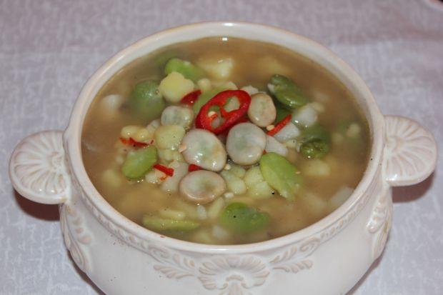 Przepis  zupa z bobu z ziemniakami przepis