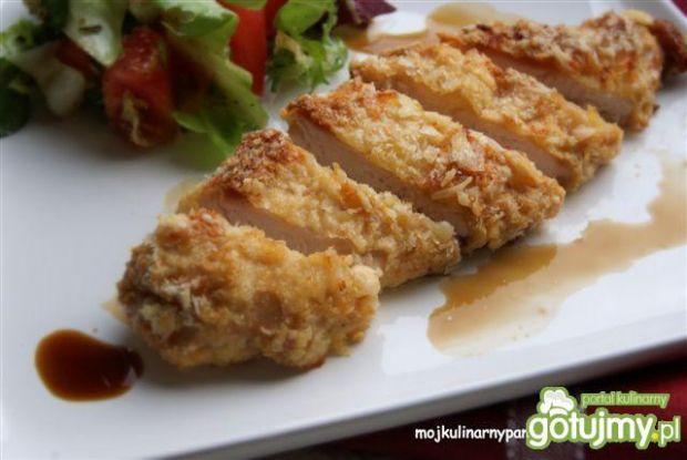 Przepis  kurczak teriyaki w panierce panko przepis