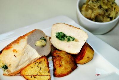 Grillowana pierś z kurczaka ze szpinakiem