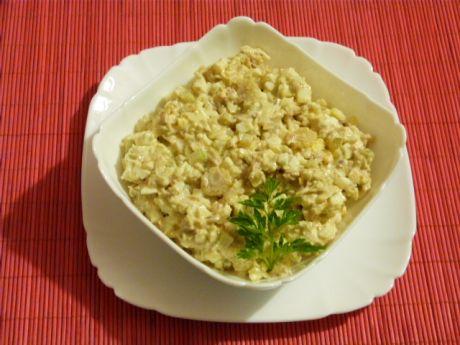 Przepis  sałatka z makreli z kolbami kukurydzy przepis