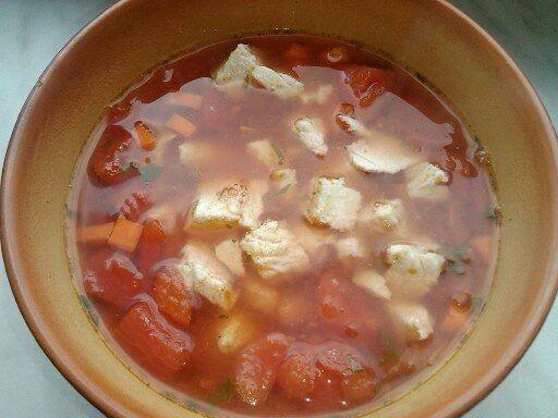 Przepis  zupa pomidorwa na indyku przepis