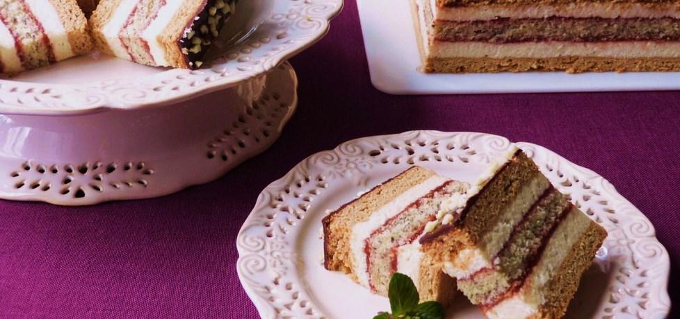 Ciasto miodowe z makową wkładką (autor: renatazet ...