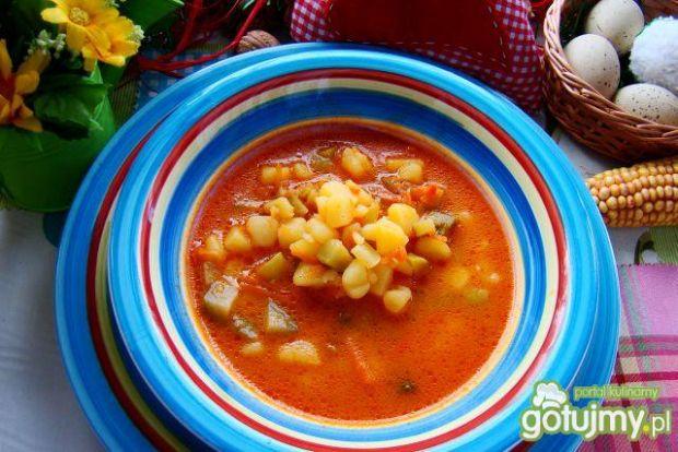 Przepis  pyszna zdrowa pomidorowa z ogórkiem przepis