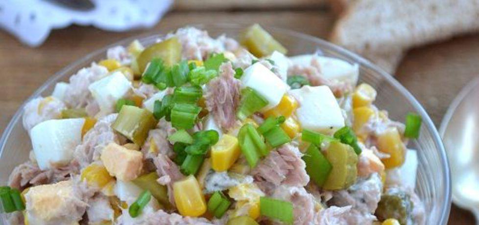 Sałatka z tuńczyka, kukurydzy, jajek i ogórków (autor: mufinka79 ...