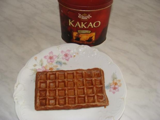 Gofry kakaowe  kulinarne abc