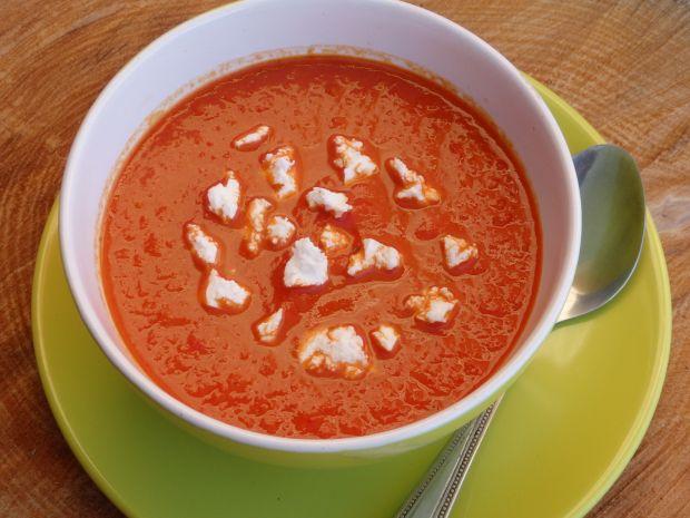 Przepis  zupa krem z pieczonej papryki przepis