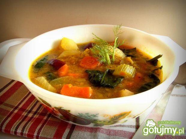 Przepis  zupa warzywna z czerwoną soczewicą przepis