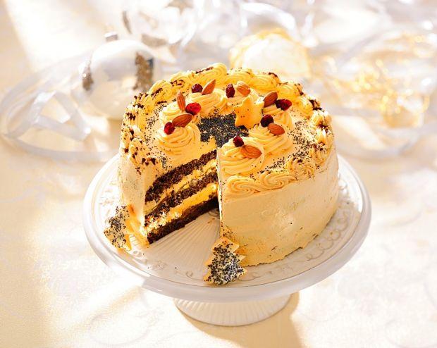 Przepis  tort makowy z kremem kawowym przepis