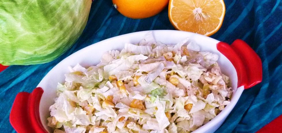 Sałata lodowa z kukurydzą i jabłkami (autor: ikrakowianka ...
