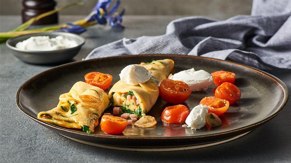 Karol okrasa omlet ze szpinakiem i szynką karol okrasa serwuje ...