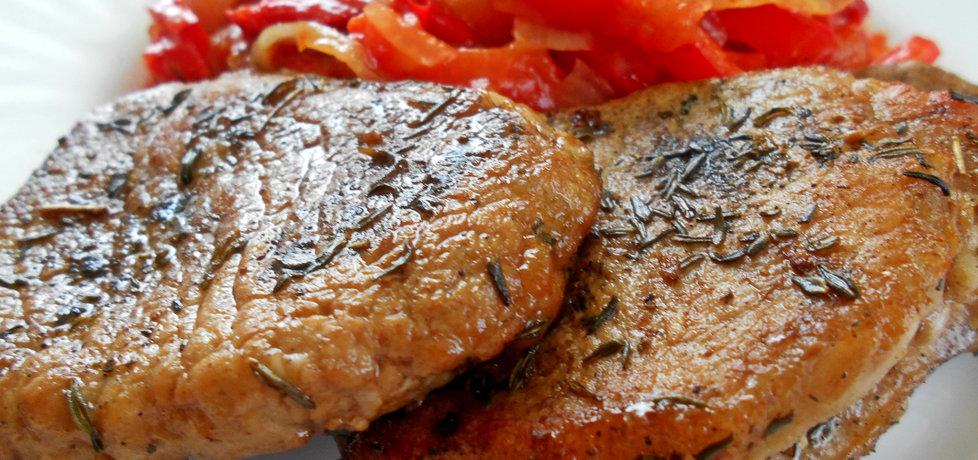 Schabowe z sosem paprykowym (autor: ewa