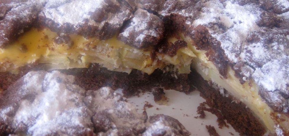 Jabłecznik kakaowy z budyniem i wiórkami (autor: jolantaps ...