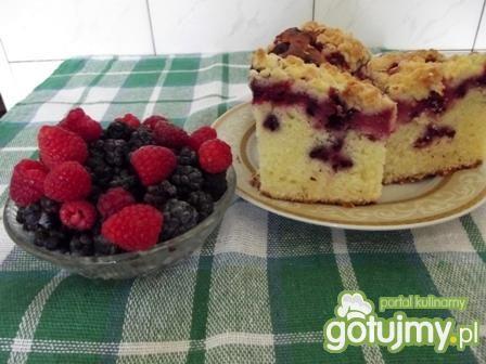 Przepis  ciasto na maślance z owocami leśnymi przepis