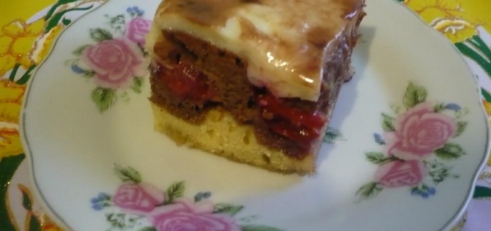 Ciasto z budyniem i ze śliwkami (autor: czekoladkam ...