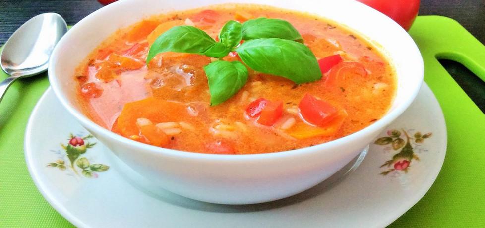 Pikantna zupa pomidorowa z ryżem i czerwoną papryką (autor: futka ...