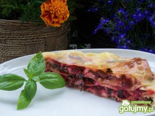 Przepis  lasagne z botwinką przepis