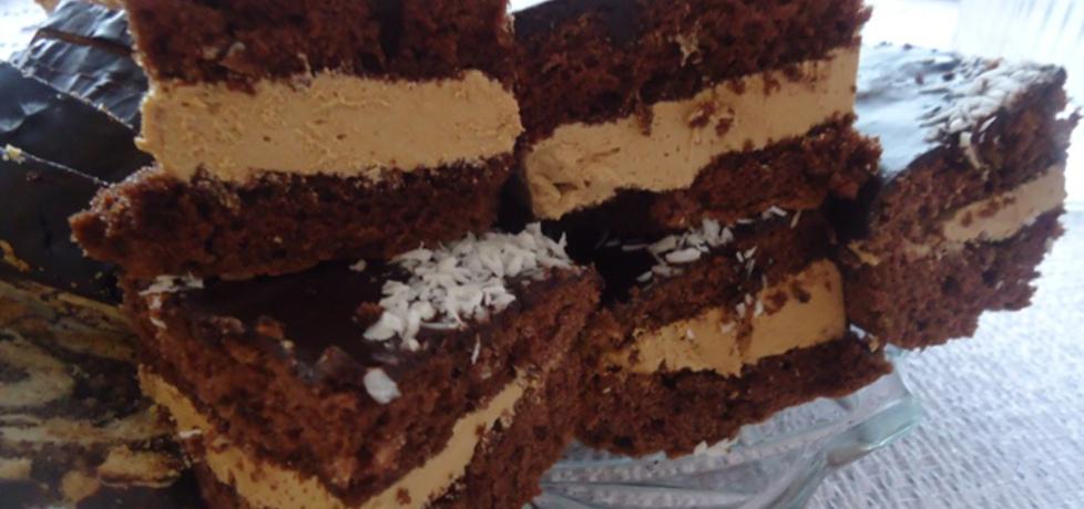 Biszkopt kakaowy z masą krówkową (autor: ilka86)