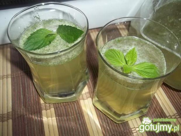 Przepis  napój miętowo-cytrynowo-jabłkowy przepis